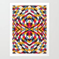 stained glass Art Prints featuring Stained Glass by Danny Ivan