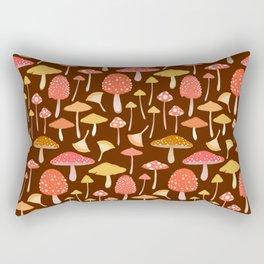 Mushroom Foraging Rectangular Pillow
