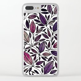 Floral Illustration - Leaf - No*45 Clear iPhone Case