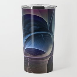 Fractal Mysterious, Colorful Abstract Art Travel Mug