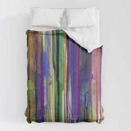 Abstract Multi-coloured Stripes 1410 Comforters
