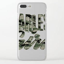 Fearless Girl Camo design | Inspirational product Clear iPhone Case