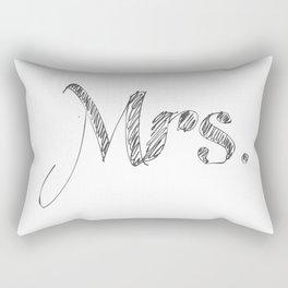 Mrs. Scribble Font Rectangular Pillow