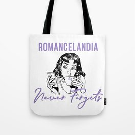 Romancelandia Never Forgets -- Lavender Tote Bag