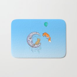 The fox and the cat Bath Mat