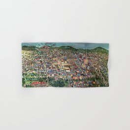 Map of Scranton Mural Print Hand & Bath Towel