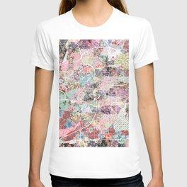 San Antonio map flowers T-shirt