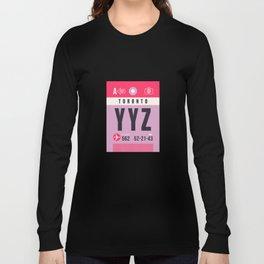 Baggage Tag A - YYZ Toronto Canada Long Sleeve T-shirt