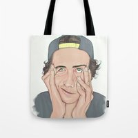 boy Tote Bags featuring BOY by Laura O'Connor
