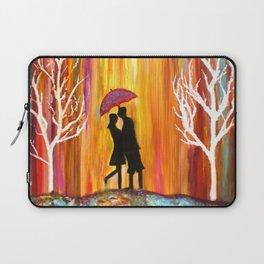 Romance in the Rain I romantic gift art Laptop Sleeve