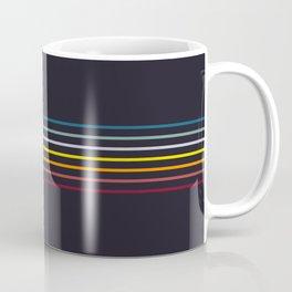 Thin Stripes Retro Colors Coffee Mug