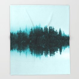 Cloudy Forest Throw Blanket