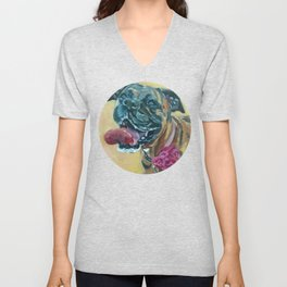 Delilah the Boxer Unisex V-Neck