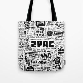 Rap lyrics Tote Bag