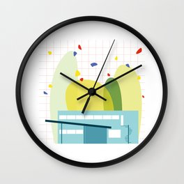 architecture - walter gropius Wall Clock