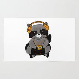 three wise raccoon music Rug