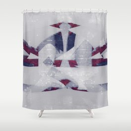 hating bad technology Shower Curtain