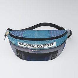 Grand Events in blues Fanny Pack