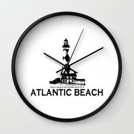 Atlantic Beach - North Carolina. Wall Clock