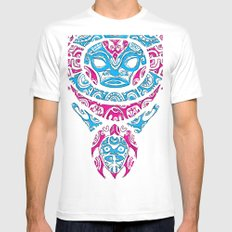 H tattoo MEDIUM Mens Fitted Tee White