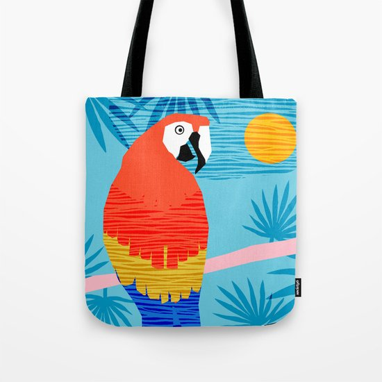 Say What - memphis throwback retro neon tropical 1980s 80s style hipster bright bird paradise art Tote Bag