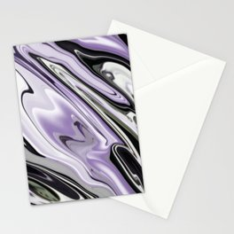 Ultra Violet Silver and Lilac Abstract Marble Vector Stationery Cards