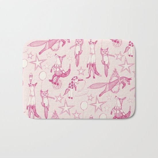 foxy circus pink ivory Bath Mat