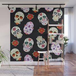 Sugar Skull Pattern Wall Mural