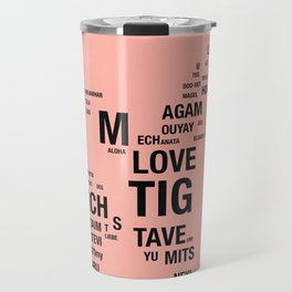 All languages of the world Travel Mug