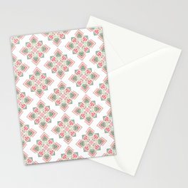 Green and pink combo pattern Stationery Cards