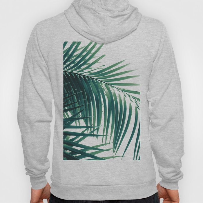 Palm Leaves Green Vibes #6 #tropical #decor #art #society6 Hoody
