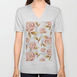 Blushing blooms Unisex V-Neck