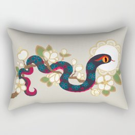 Snake and flowers 2 Rectangular Pillow