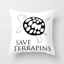 Save Terrapins Throw Pillow