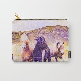 Southwest Horse Ranch Horses Carry-All Pouch