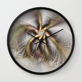 Wall Decor, Abstract Fractal Art Wall Clock