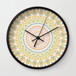 Meadow Mandala Wall Clock