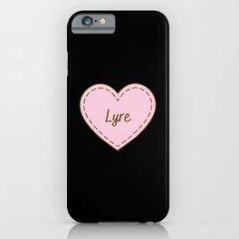 I Love Lyre Simple Heart Design iPhone Case