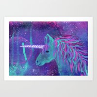Unicorn Galaxy Art Print
