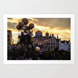 Steampunk Sunset Art Print