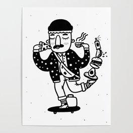 Skate Foodie Poster
