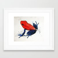 frog Framed Art Prints featuring Frog by Jacob Haynes