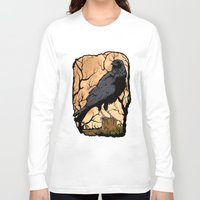 crow Long Sleeve T-shirts featuring Crow by Murat Sünger