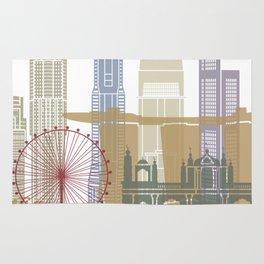 Singapore skyline poster Rug