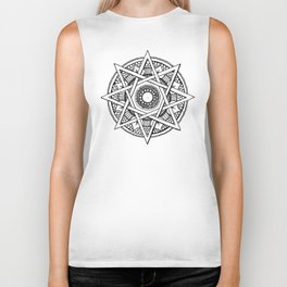 Abstract Mandala Biker Tank