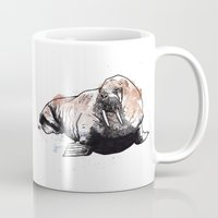 walrus Mugs featuring Walrus by ZOO (William Redgrove)