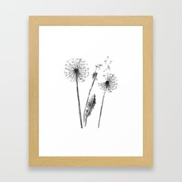 My thoughts and I Framed Art Print