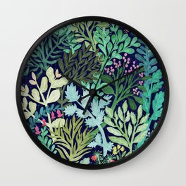 Botanical Glow Wall Clock