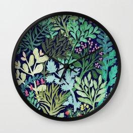 Botanical Glow Wall Clock