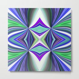 Abstract Kaleidoscope Design Multi-coloured 738 Metal Print